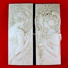 AUTUMN LEAVES AND CHERRY BLOSSOM - MARBLE PLAQUES MUCHA