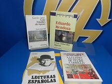 Libro Lote de 4 libros narrativa española-AZORIN-C.JOSE CELA-EDUARDO MENDOZA-A.B
