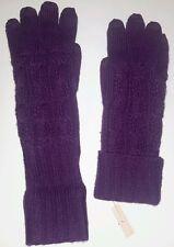 Gr 7,5 hochwertiges weiches Schafsleder in lila Damen Lederhandschuhe