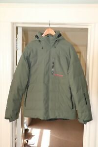 FlyLow Colt Down Jacket Ski Snowboard Fly Low Skiing Insulated Coat Parka- Large