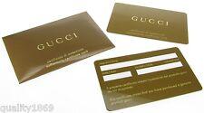 GUCCI GOLDEN autenticità certificato di garanzia Card-NUOVO