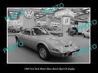 OLD 8x6 HISTORIC PHOTO OF BUICK OPEL GT CAR 1969 MOTOR SHOW DISPLAY