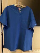 1 Set of mens scrubs dickies M Shirtroyal blue