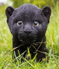Black Panther Cub Stunning Realistic Life Like Figurine Statue Home / Garden