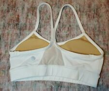 Lululemon Size 2 Flow Y Sports Bra White with PADS FT2