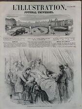 L' ILLUSTRATION 1850 N 399  DERNIERS MOMENTS DE LA REINE DES BELGES, A OSTENDE