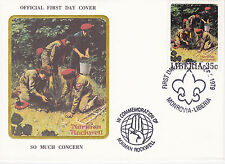 1979 Liberia Scouting / Norman Rockwell Commem.Fdc Cover - So Much Concern