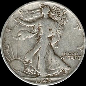 A 1943 D Walking Liberty Half Dollar 90% SILVER US Mint (Exact Coin Shown)