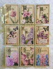 Set of 9 Cards Easter Floral Vintage Pocket Pen PAL Letter Kit W Protector 107n