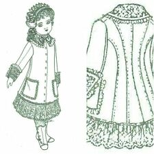 """16""""  DOLL sewing PATTERN Victorian vintage look  fashion coat hat"""