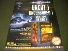 X FILES uncut uncensored 1st Time On Video! 1999 PROMO POSTER AD mint condition