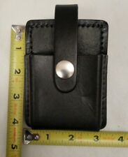 1 NOS Leather Fire Police Handcuff- glove Pouch electronics pager, phone Clip