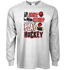 Long sleeve t-shirt funny ice hockey saying tee gear men's clothing