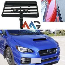 For Subaru WRX STI Front Bumper Tow Hook License Plate Relocator Bracket Mount