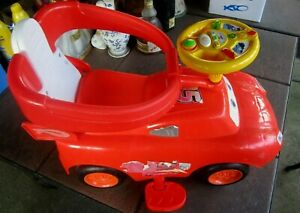 Disney Pixar Cars Toddler McQueen Ride On Toy with Lights and Sounds
