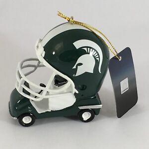 Michigan State Spartans Football Field Car Team Ornament NCAA