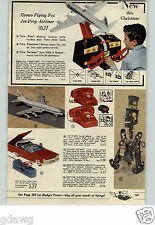 1960 PAPER AD Mr Machine Ideal Pedal Car Racer Mark IX Jeep Air Force Airliner