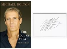 Michael Bolton Autographed Signed The Soul of It All HC Book AFTAL UACC RD