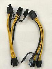 6X PCI-E 6-pin to 2x 8 (6+2) pin VGA Splitter Cable for GPU Mining ZEC, BTC, ETH