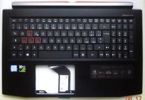 #059 ACER Predator Triton Helios 300 Tastatur Oberteil schwarz italienisch