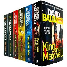 King and Maxwell Series 6 Books Collection Set by David Baldacci