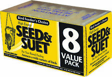 New listing Seed And Suet 8 Value Pack Attract Variety Wild Birds Year Round Feeding 5.5lbs