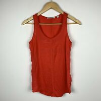 Country Road Womens Tank Top Size 2XS Red Lyocell Silk Blend Good Condition