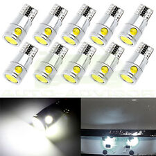 10X White Canbus Error Free Cree LED  Bulbs T10 192 168 194 License plate Light