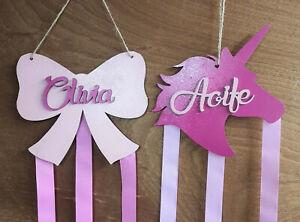 Personalised Wooden Bow Holder / Hanger