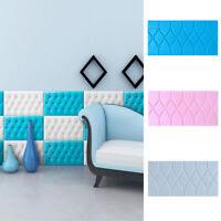 3D Tile Brick Wall Sticker Self-adhesive Waterproof Foam Panel Wallpaper 1PC