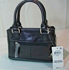 NEW!  GIANNI  BERNINI ~AUTHENTIC LEATHER GLAZED  MINI  SATCHEL BAG.$ 99.50