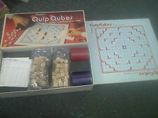 Scrabble Quip Qubes: Cross Sentence Board Game Selchow & Righter 1981 complete