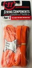 Warrior String Components Part B 2 Nylon Sidewall Shoelace Strings Orange
