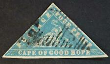 1861 woodblock Cape of Good Hope 4d milky blue small to good margins SG14