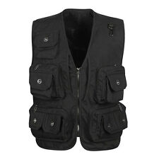 Mens pockets waistcoat hunting fishing Professional vest photo Director jacket