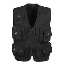 Mens pockets waistcoat hunting fishing Professional vest photo Director jacket