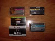 GENUINE SET 4 LEXMARK 200XL HI-YIELD INK CARTRIDGE Pr01000/4000/5500 NEW CYMK XL