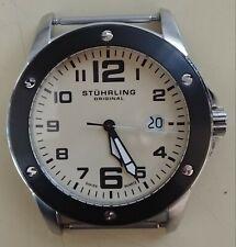 Stuhrling Original Men's Watch Cream/Off White Dial Black Bezel
