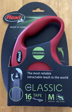 Flexi Classic 16 ft Retractable Tape Dog Leash Medium Dogs Up To 55 lbs - Red