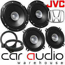 Honda CIVIC 2001-06 Dual Cone JVC Front Door & Rear Car Speakers & Brackets Kit