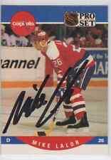 Autographed 90/91 Pro Set Mike Lalor - Capitals