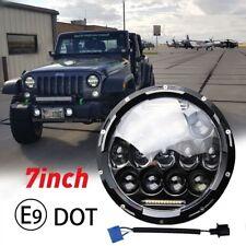 """DOT E9 7"""" Round Sealed LED Headlight Lamp w/ DRL For  Wrangler JK JKU TJ CJ LJ"""