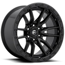 "4-Fuel D679 Rebel 17x9 6x135 -12mm Matte Black Wheels Rims 17"" Inch"