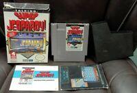 Talking Super Jeopardy! NES Nintendo Game Original BOX Complete CIB Manual Cover