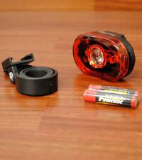 LED REAR BICYCLE BIKE BLINKY FLASH/STEADY LIGHT 0.5 WATTS SUPER BRIGHT RED NEW