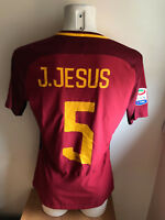 JESUS AS ROMA SERIE A 2018 MATCH DAY MATCH WORN ISSUED SHIRT MAGLIA INDOSSATA