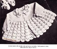 LACYJACKET /  3 to 12 months -  3ply - COPY crochet pattern