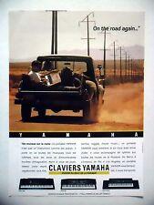 PUBLICITE-ADVERTISING :  YAMAHA Claviers  1990 Instruments Musique