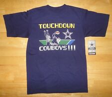 DALLAS COWBOYS - TOUCHDOWN! 8 Bit Style Blue Shirt - Youth Medium 12-14 *NEW*