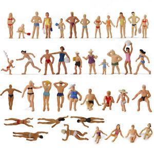40pcs HO Scale 1:87 Seaside Visitors Swimming People Figures P8720 Model Railway